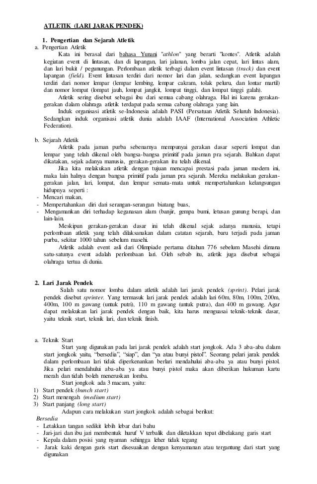 Sejarah Lari Jarak Pendek : sejarah, jarak, pendek, Sejarah, Jarak, Pendek