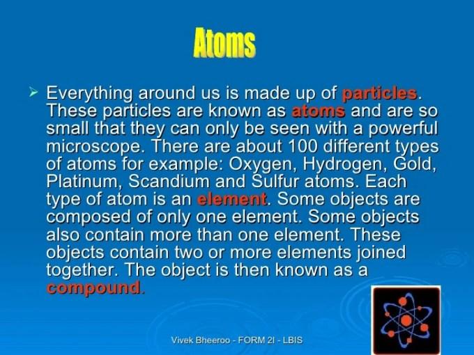 Poem About Atoms Elements And Compounds Textpoems