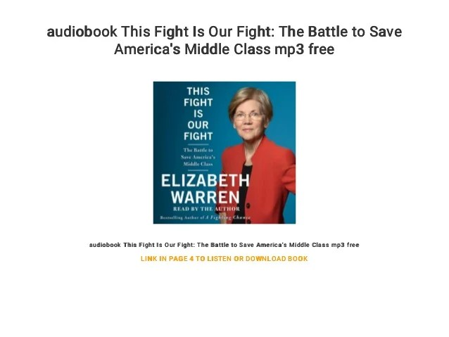 Audiobook This Fight Is Our Fight The Battle To Save America's Middl
