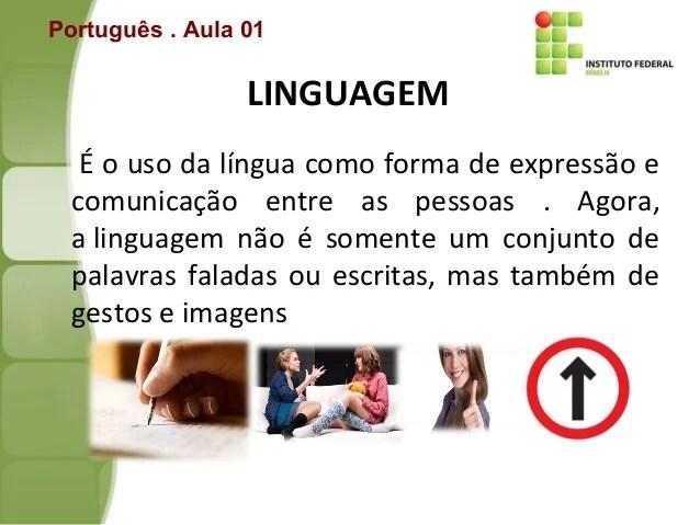 Aula De Imersão Linguagem Língua E Fala