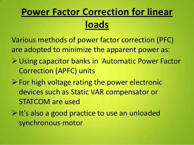 Practical Power Factor Correction Power Factor Electronics
