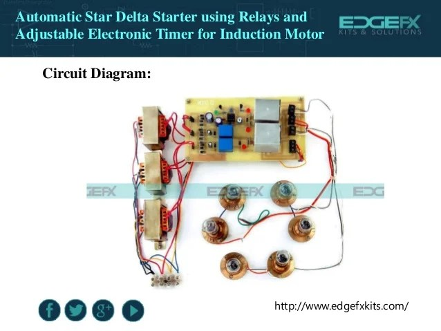 Star Delta 3phase Motor Automatic Starter With Timer Control Diagram