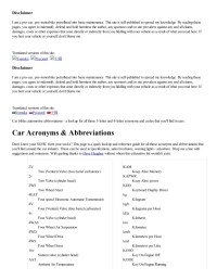 Auto Fuse Box Abbreviations Schematic Diagrams ...