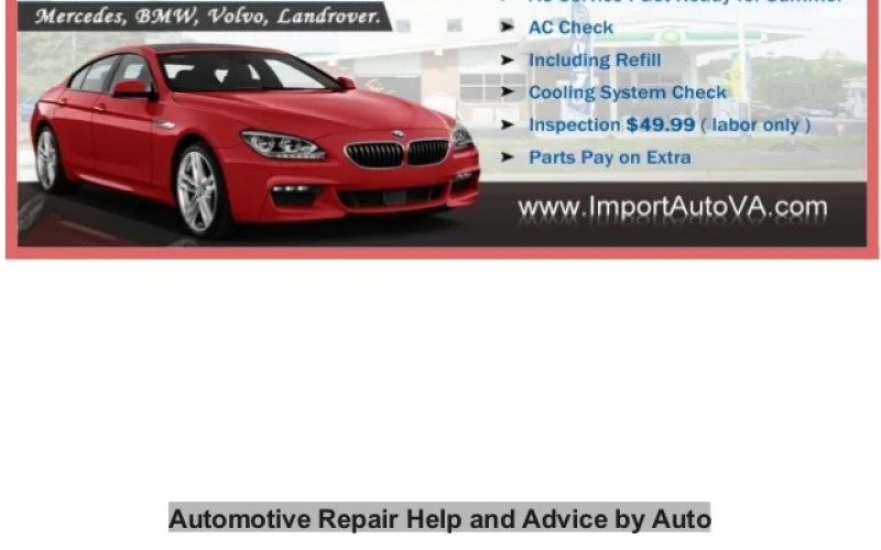 Automotive Repair Help And Advice By Auto Mechanics