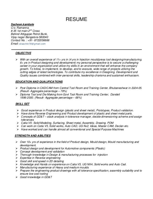 Automotive Resume Sacheen 09