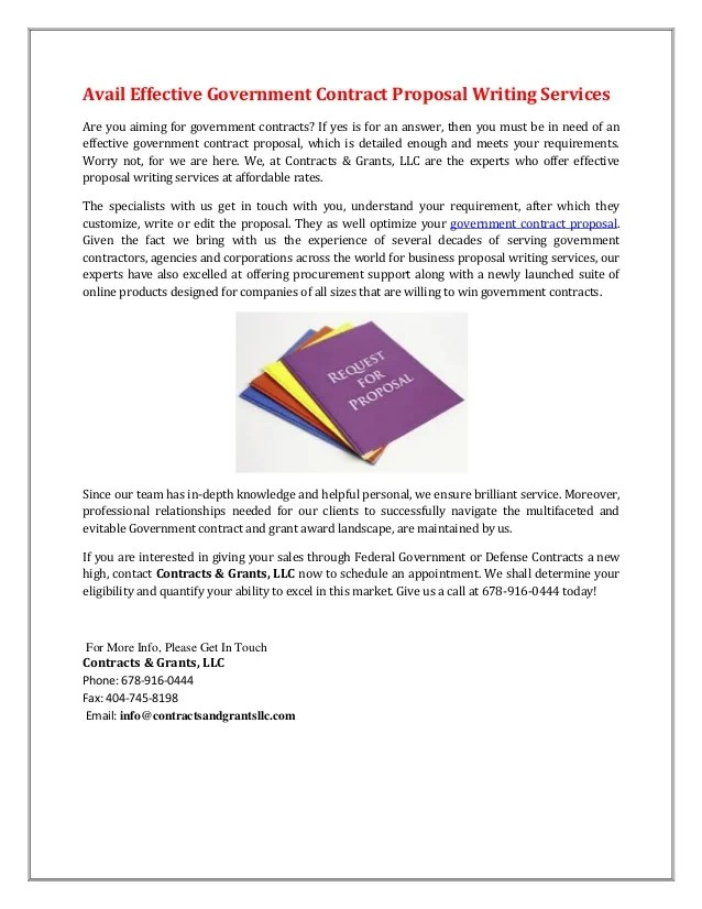 Federal Proposal Writing Services Proposal Writing Full Service