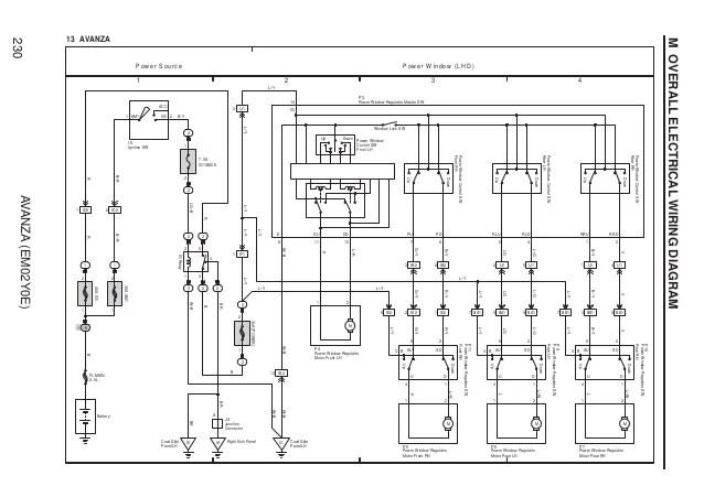 electric window motor wiring diagram 480v 3 phase transformer avanza 22