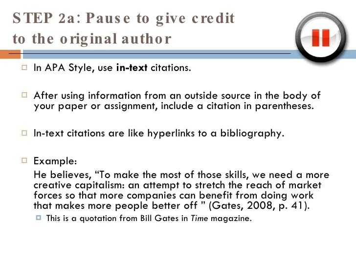 Avoiding Plagiariarism and using APA Citation