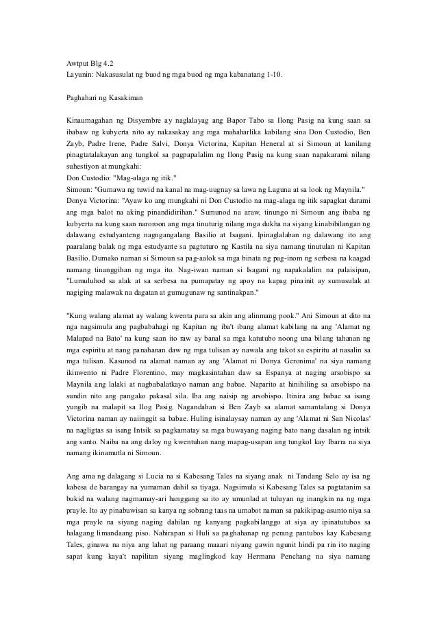 Kabanata 4 El Filibusterismo Buod Wattpad - Modern Home