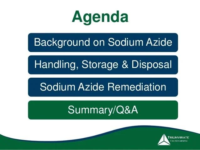 The Hidden Dangers of Sodium Azide