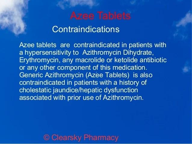 Generic Azithromycin (Azee Tablets)