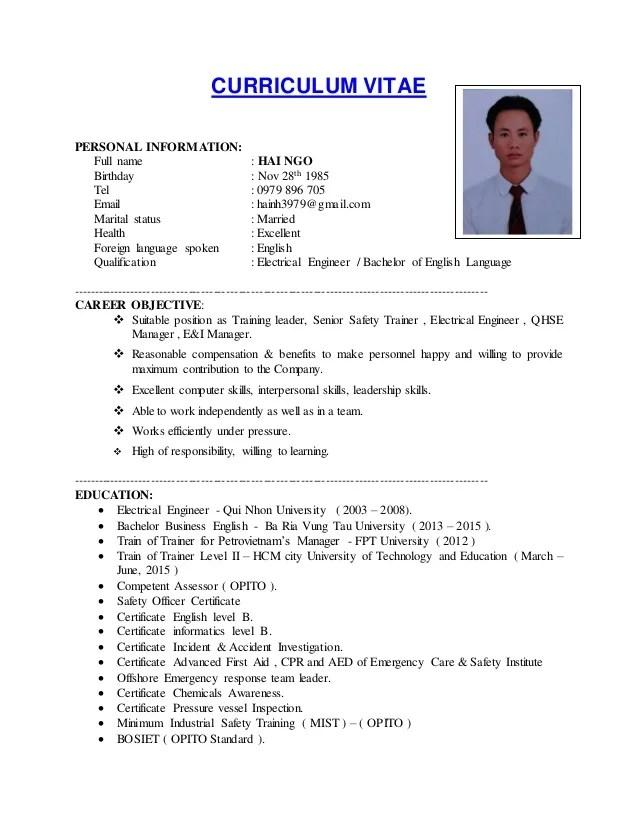 CV NGO HUNG HAI
