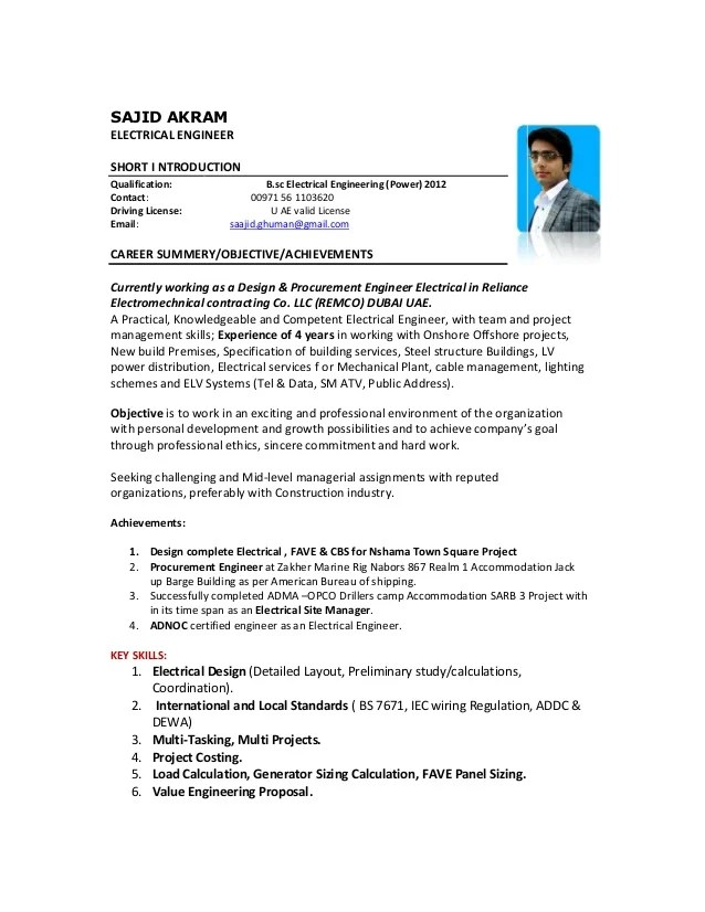 Electrical Engineer Sajid Akram N 1
