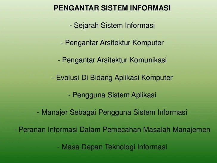 Sistem Informasi Manajemen Bab 1