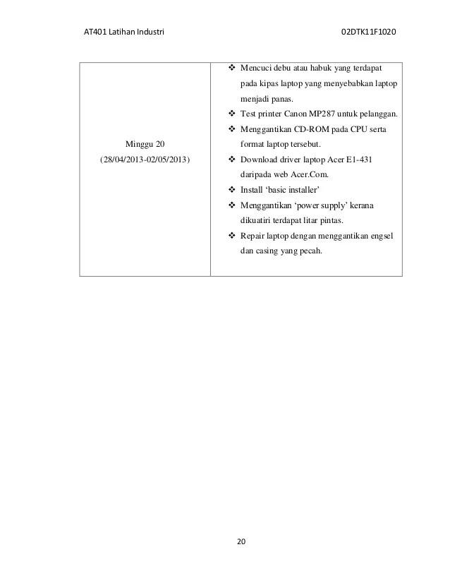 Contoh Format Laporan Latihan Industri Uitm Lkit 2017 Cute766