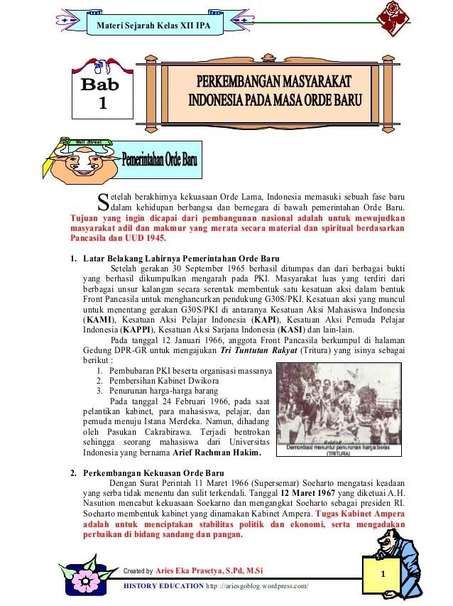 Bab 1 Lks Sejarah Kelas Xii Ipa