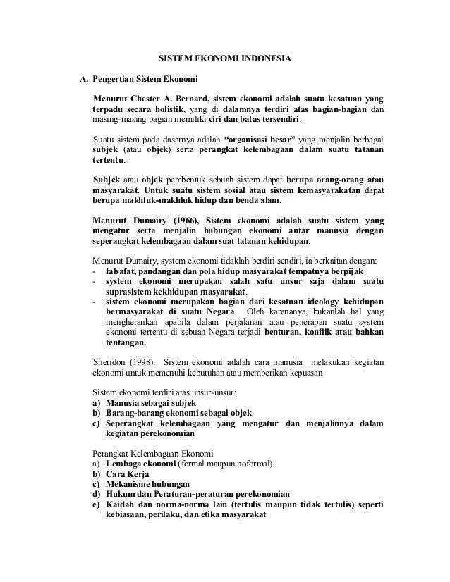 Indonesia Menganut Sistem Ekonomi : indonesia, menganut, sistem, ekonomi, Sistem, Ekonomi, Indonesia