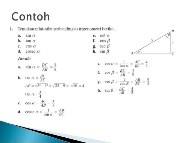 Contoh Soal Dan Jawaban Perbandingan Trigonometri Sudut Cute766