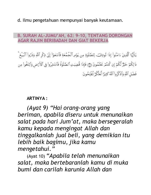 Kandungan Surah Al Jumu Ah Ayat 9 10 : kandungan, surah