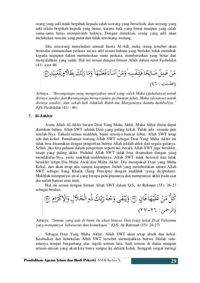 Kelas 1 Pendidikan Agama Islam Asmaul Husna Ar Rahman Dan Cute766