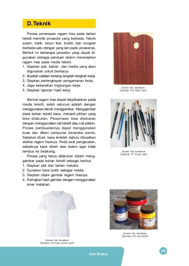 Bahan dan Alat Menggambar Ragam Hias | b. Teknik manual