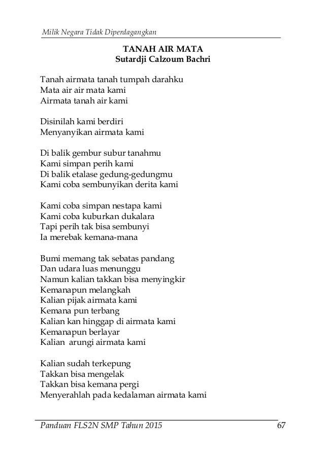 Contoh Puisi Pendek Bertemakan Cinta Tanah Air Kt Puisi Cute766