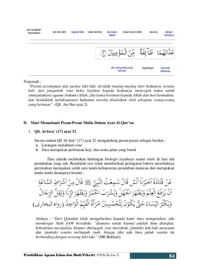 Ayat Yang Menjelaskan Tentang Zina : menjelaskan, tentang, Pergaulan, Bebas