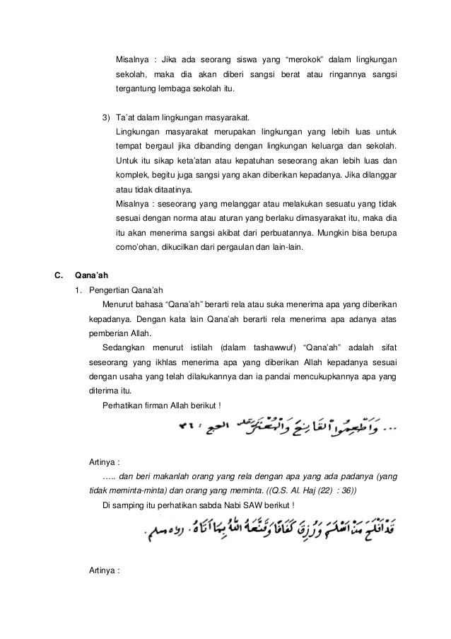 Pengertian Tawadhu Dan Contohnya : pengertian, tawadhu, contohnya, Tawadhu,, Ta'at,, Qana'ah, Sabar