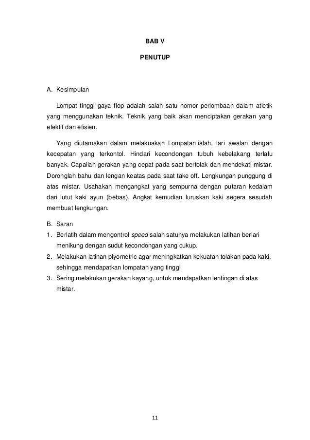 Contoh Pembuatan Skripsi Bab V Penutup Kesimpulan Daftar Pustaka Muda Mudi Condrowangsan Cute766