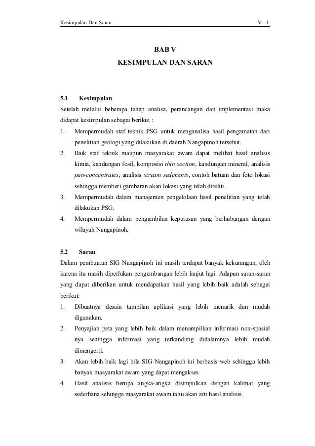Contoh Kesimpulan Dan Saran Skripsi Teknik Informatika Kumpulan Berbagai Skripsi Cute766