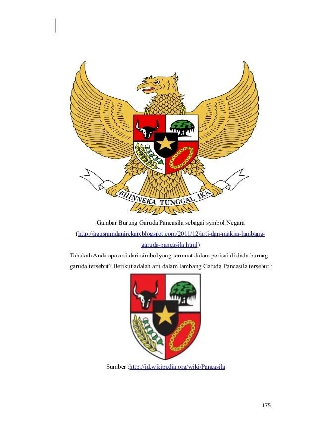 Makna Gambar Burung Garuda Pancasila  Gambar V