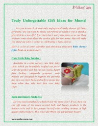 Baby Shower Gift Ideas for Moms