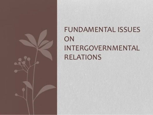 Image result for INTERGOVERNMENTAL RELATIONS AND ISSUES