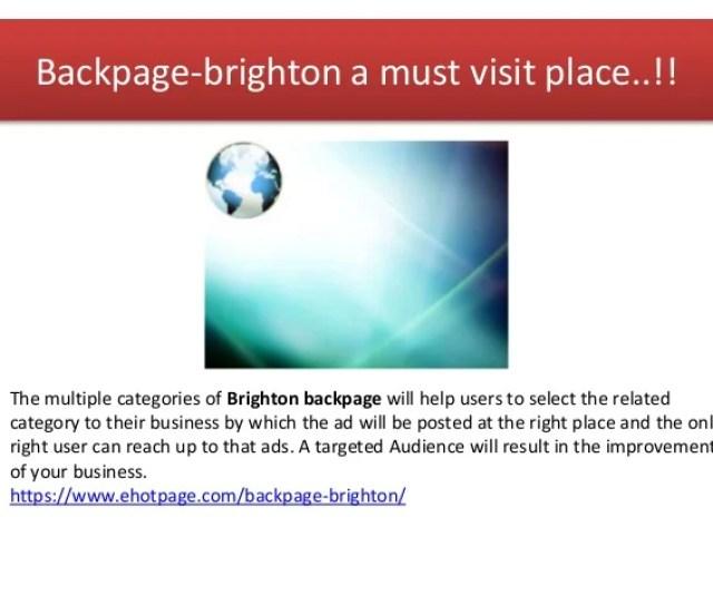 Backpage Brighton
