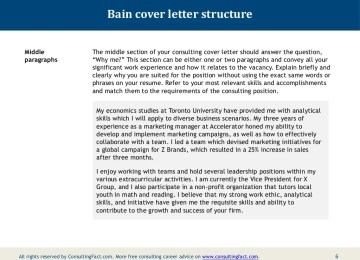 Bain Cover Letter Sample Graduate