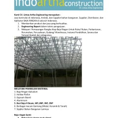 Tukang Baja Ringan Lombok Galvalum Kanopi Konstruksi Galv