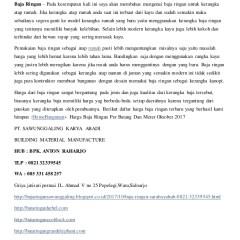 Daftar Harga Baja Ringan Tasikmalaya Distributor Surabaya Tlp 0821 3233 9545