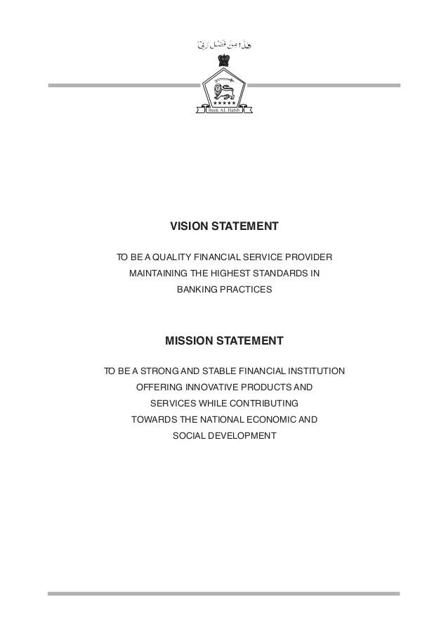 Bank Al Habib Financial Statement