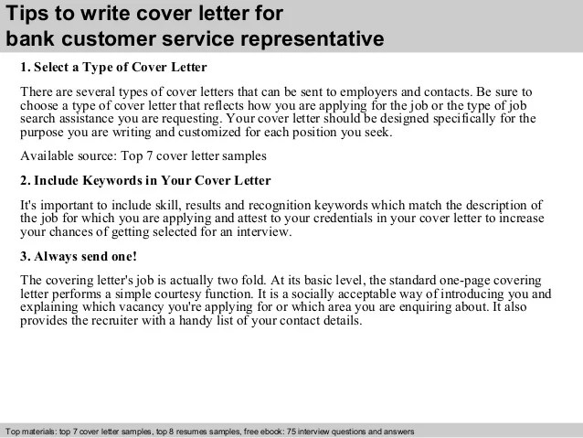 Cover Letter For Bank Customer Service Resume Examples Best