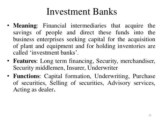 Meaning Securities Banking