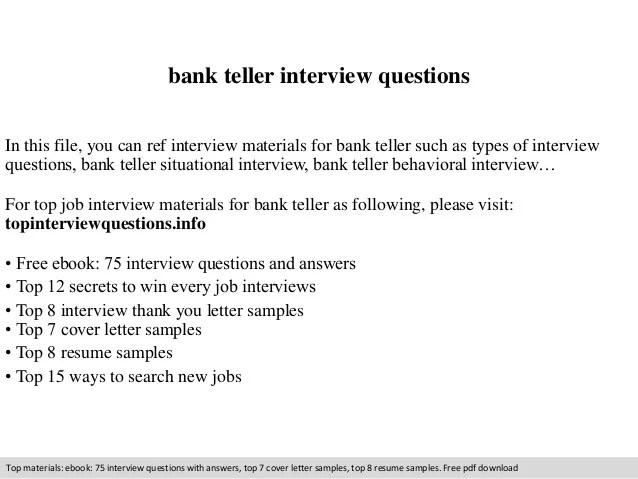 Bank Teller Supervisor Cover Letter - Cover Letter Resume ...