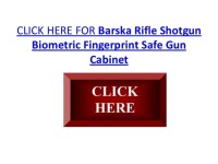 Barska Rifle Shotgun Biometric Fingerprint Safe Gun Cabinet
