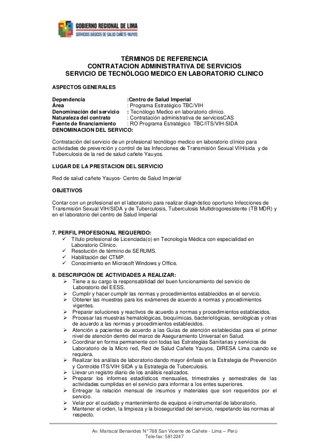 curriculum vitae modelo de tecnico radiologo