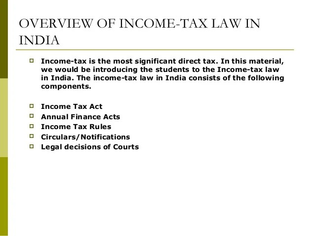 Image result for COMPONENTS OF INCOME TAX LAW