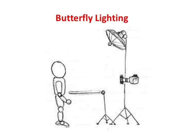 Butterfly Lighting Portraits