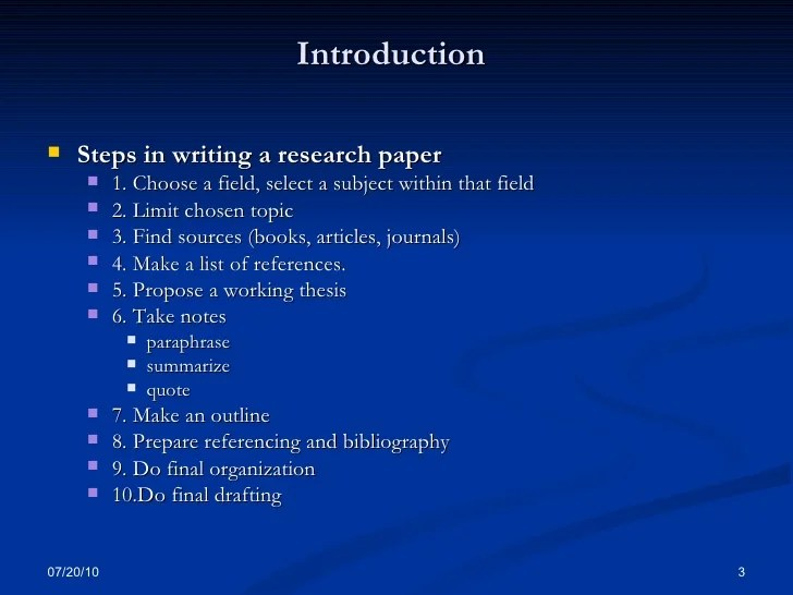 Basic Research Paper Writing Skills