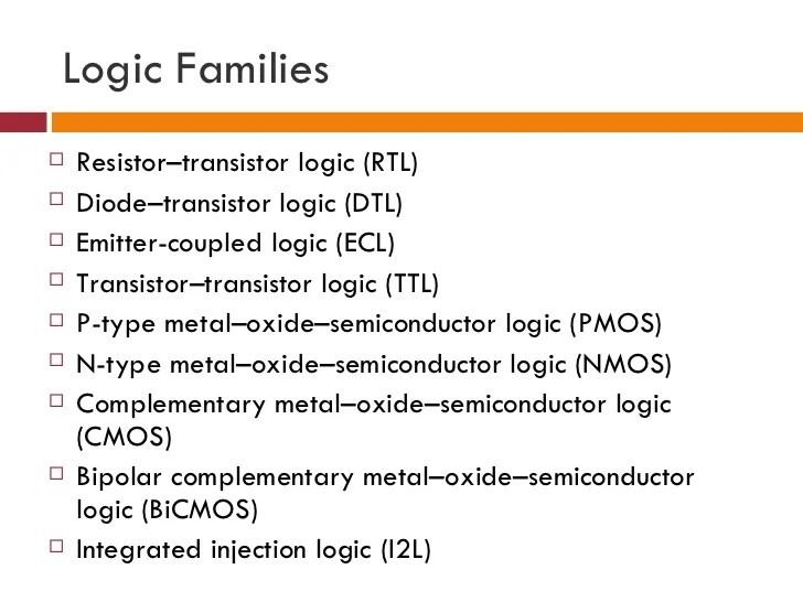 Using Of Resistortransistor Logic Rtl Digital Integrated Circuits