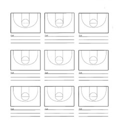 Basketball Court Diagram With Notes S Video Cable Court-diagram