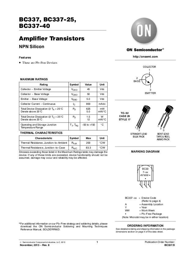 Bc557 Datasheet - Auto Electrical Wiring Diagram