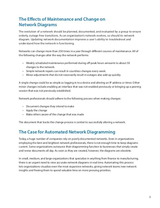 The Case For Automated Network Diagramming A NetBrain WhitePaper